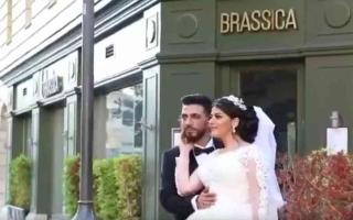 الصورة: الصورة: بالفيديو.. انفجار بيروت يفسد فرحة العمر على عروسين
