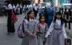 الصورة: الصورة: تلاميذ قطاع غزة يعودون إلى مدارسهم رغم «كورونا»