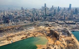 الصورة: الصورة: خبراء: انفجار مرفأ بيروت أحدث حفرة بعمق 43 متراً