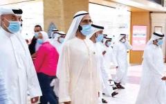 الصورة: الصورة: محمد بن راشد يواصل تفقد سير الأعمال في دبي