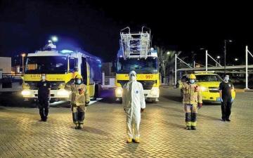 الصورة: الصورة: الدفاع المدني بعجمان يسهم في جهود مواجهة فيروس «كورونا»
