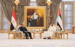 الصورة: الصورة: محمد بن زايد يتلقى اتصالاً هاتفياً من الرئيس المصري