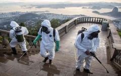 الصورة: الصورة: وفيات كورونا في البرازيل تتجاوز 105 آلاف