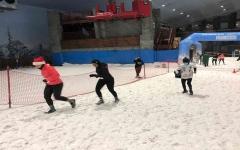 الصورة: الصورة: انطلاق منافسات سباق الجري الثلجي في سكي دبي