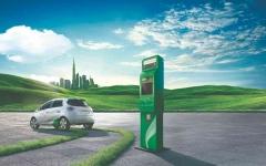 """الصورة: الصورة: تركيب محطتين من محطات """"الشاحن الأخضر"""" في موقع إكسبو دبي"""