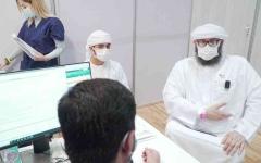 """الصورة: الصورة: مواطن من أصحاب الهمم يلبي نداء الوطن ويشارك في التجارب السريرية للقاح """"كوفيد- 19"""""""