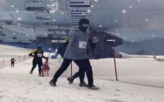 الصورة: الصورة: سباق الثلج ينعش صيف دبي