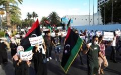 الصورة: الصورة: حراك ليبيا المنتفضون يدعون لمليونية في طرابلس اليوم