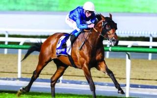 الصورة: الصورة: 3 انتصارات لخيول الإمارات في نيوماركت