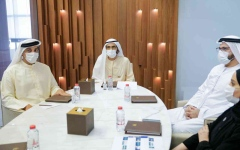 الصورة: الصورة: محمد بن راشد يطلع على خطط عمل الحكومة في ملف التطوير الحكومي والمستقبل
