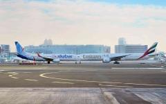 """الصورة: الصورة: """"طيران الإمارات"""" و""""فلاي دبي"""" تعيدان تفعيل شراكتهما"""