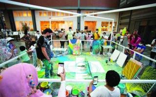 الصورة: الصورة: «دبي كانفس» يختتم دورته الخامسة بتقنيات فنية تعبر حدود الخيال