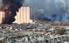 الصورة: الصورة: انتهاء أعمال البحث عن ضحايا تحت مبنى دمره انفجار بيروت
