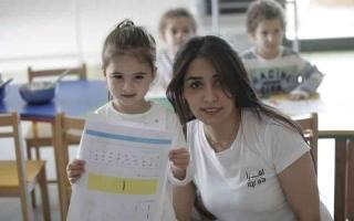 الصورة: الصورة: ورش تثري مهارات الطلبة اللغوية  في مركز الجليلة لثقافة الطفل