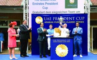 الصورة: الصورة: «فريدي بي واي» بطل كأس رئيس الدولة للخيول العربية