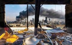 الصورة: الصورة: مرفأ بيروت.. والرماد المنثور فوق أنقاض نكبتيْن