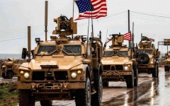 الصورة: الصورة: انفجار يستهدف رتلاً للتحالف الدولي في العراق