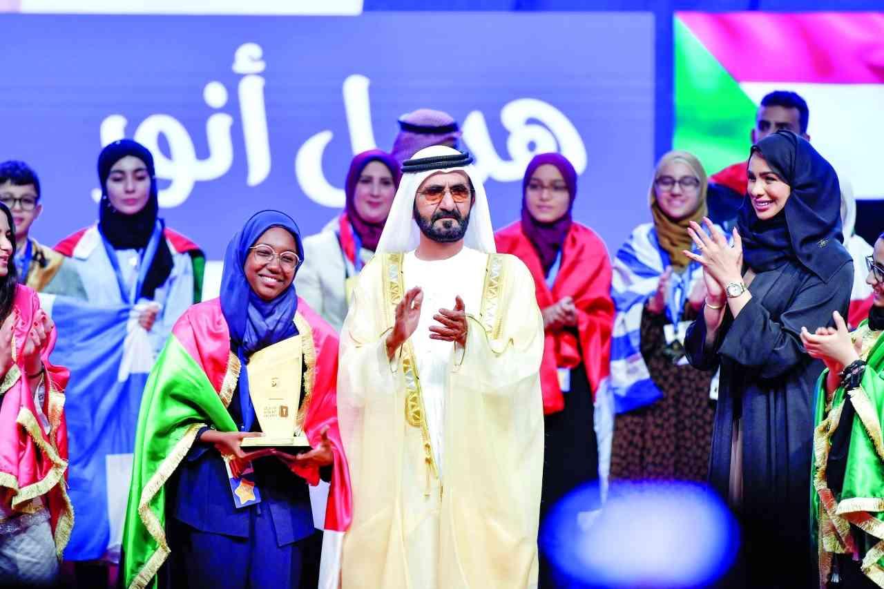 الصورة : محمد بن راشد خلال تتويج الفائزين  بالتحدي في الدورة السابقة |  أرشيفية