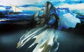 الصورة: الصورة: لوحات أشواق عبد الله تحاكي أصالة المرأة الإماراتية