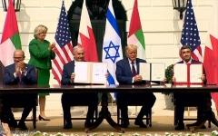 الصورة: الصورة: رسميا.. الإمارات وإسرائيل توقعان معاهدة السلام التاريخية
