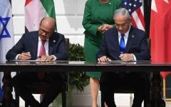 الصورة: الصورة: البحرين وإسرائيل توقعان اتفاقية إعلان تأييد السلام