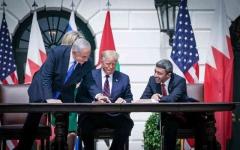 الصورة: الصورة: الإمارات توقع معاهدة السلام مع إسرائيل