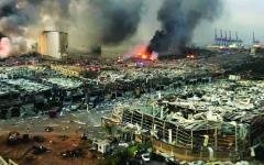 الصورة: الصورة: تحقيقات مع مشتبه بهم  بحريق في مرفأ بيروت