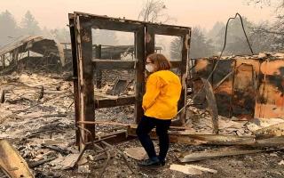 الصورة: الصورة: شاهد.. الدمار الشامل لحرائق ولاية أوريغون الأمريكية