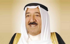 الصورة: الصورة: ترامب يمنح وسام الاستحقاق العسكري برتبة قائد أعلى لأمير الكويت