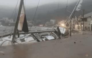 الصورة: الصورة: إعصار متوسطي نادر يضرب غرب اليونان