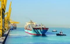 الصورة: الصورة: القطاع البحري الإماراتي سفينة نجاة التجارة العالمية