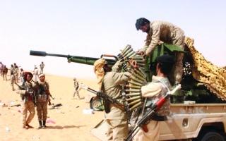 الصورة: الصورة: القوات المشتركة تلاحق الميليشيا في مأرب وتشدد الخناق عليها في الجوف