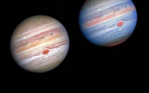 الصورة: الصورة: شاهد.. صور لعواصف على سطح كوكب المشتري