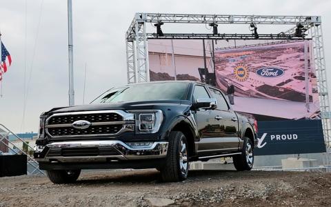 """الصورة: الصورة: """"فورد"""" تكشف عن أول سيارة """"بيك أب"""" كهربائية بالكامل"""