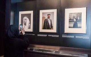 """الصورة: الصورة: لطيفة بنت محمد تزور معرض """"صور في حوار"""" بمتحف الاتحاد"""