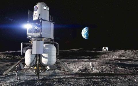 الصورة: الصورة: ناسا تكشف عن خطة جديدة لبرنامج العودة إلى القمر