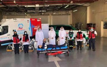 الصورة: الصورة: عائلة مواطنة تتبرع بـ 100 جهاز للإنعاش القلبي الرئوي