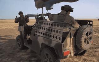 """الصورة: الصورة: شاهد.. عربة روسية جديدة محمولة جواً في مناورات """"قوقاز - 2020"""""""