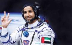 الصورة: الصورة: عام على انطلاق أول رائد فضاء إماراتي إلى المحطة الدولية