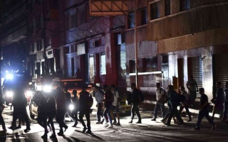 الصورة: الصورة: فنزويلا تغرق في الظلام بعد انقطاع هائل للكهرباء