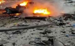 الصورة: الصورة: مصرع 7 بانفجار سيارة ملغومة في سوريا