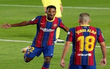 الصورة: الصورة: ميسي وفاتي يقودان برشلونة للفوز على فياريال برباعية