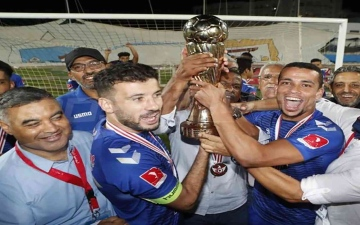 """الصورة: الصورة: المنستيري يتوّج بكأس تونس للمرة الأولى بـ """"ثنائية"""" في الترجي"""