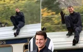 الصورة: الصورة: بالفيديو.. توم كروز يحبس أنفاس جمهوره بتأدية مشهد خطير فوق قطار سريع