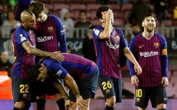الصورة: الصورة: برشلونة يلحق بريال مدريد ويخسر 1 - صفر من خيتافي