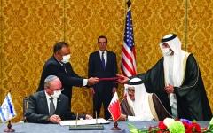 الصورة: الصورة: البحرين وإسرائيل تدشّنان في المنامة العلاقات الدبلوماسية
