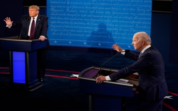 الصورة: الصورة: تغييرات على مناظرة ترامب / بايدن الأخيرة