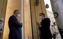 الصورة: الصورة: ماكرون ورئيس وزراء العراق يشددان على أهمية مكافحة الإرهاب