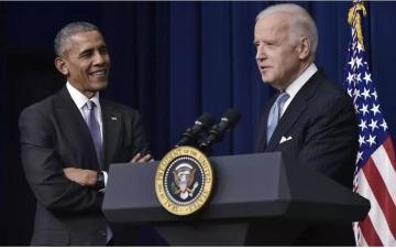 """الصورة: الصورة: أوباما ينظّم أول تجمّعاته لدعم بايدن على طريقة """"درايف إن"""""""