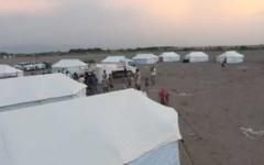 """الصورة: الصورة: فرق """"الهلال"""" والسلطات المحلية تستقبل نازحي الدريهمي ومناطق خطوط التماس بالحديدة"""